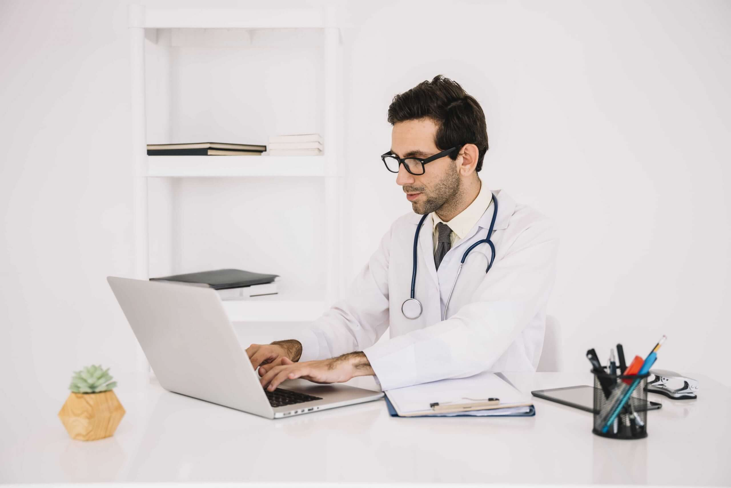 A Doctor Doing Registration in OET Portal